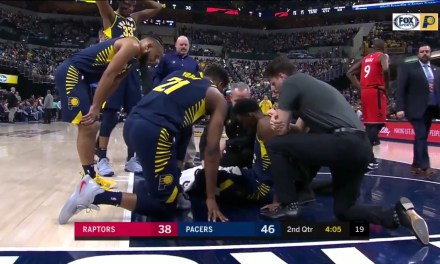 Victor Oladipo Stretchered off the Court after Suffering a Serious Knee Injury