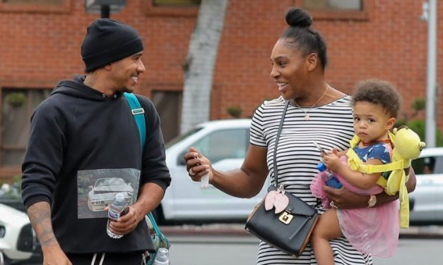 Serena Williams and Lewis Hamilton Bump Into Each Other While Shopping