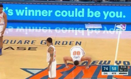 Enes Kanter Finally Gets into a Game, Kisses the Knicks Logo and Throws Up an Airball on his First Shot