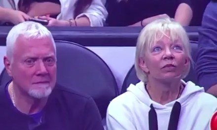 All-Time Kiss Cam Moment at the Staples Center