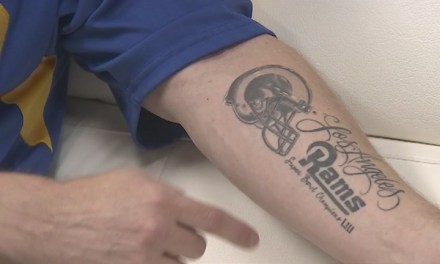A Rams Fan Made the Old Mistake of Getting a Championship Tattoo Before Superbowl Sunday
