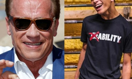Arnold Gives Props to Weightlifter with Cerebral Palsy who Deadlifts Double his Body Weight