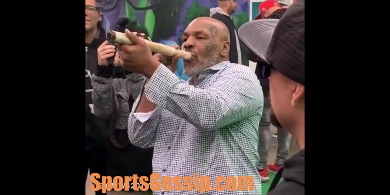 Mike Tyson Smokes a big one