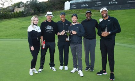 Tiger's Team Eldrick Celebrates with a Victory at the Celebrity Cup