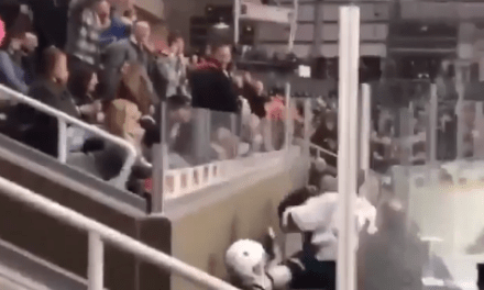 Calgary Flames Prospect Tried to Climb into the Stands and Fight a Fan