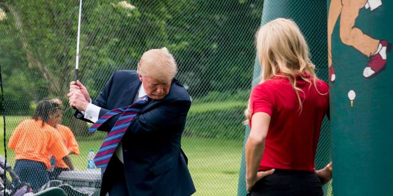 Trump Spent $50K on Golf Simulator for White House