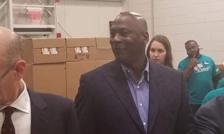 Michael Jordan Spent the Afternoon Volunteering At All-Star Weekend