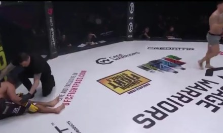 MMA Fighter Breaks His Leg Kicking His Opponent at CW 101
