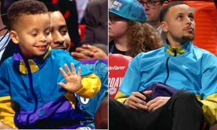 Steph Curry Brought Out The Retro Gear for All-Star Saturday Night