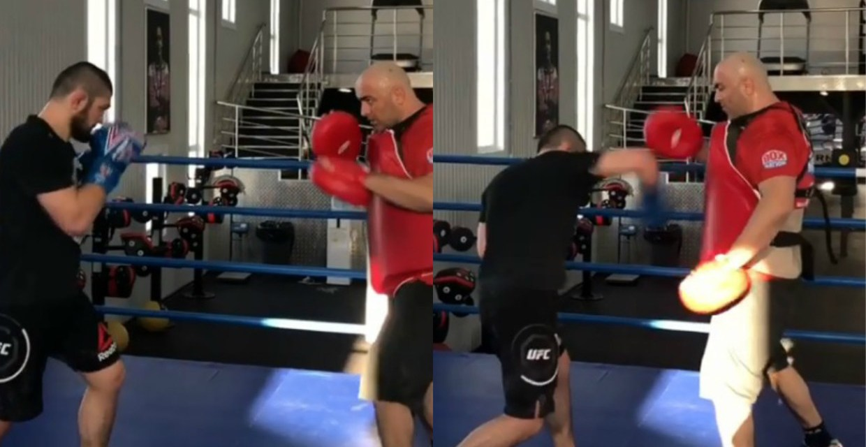 Khabib Gets to Training for Rumored Boxing Mega Fight