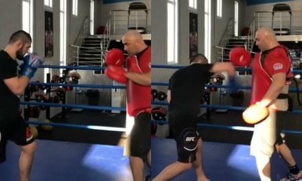 Khabib Gets to Training for Rumored Boxing Mega Fight