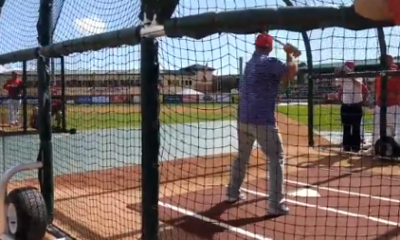 Clemson Head Coach Dabo Swinney Took Batting Practice with the St. Louis Cardinals