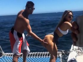 Gronk and Camille Kostek Look Like They're Enjoying Their Vacation with the Deckers