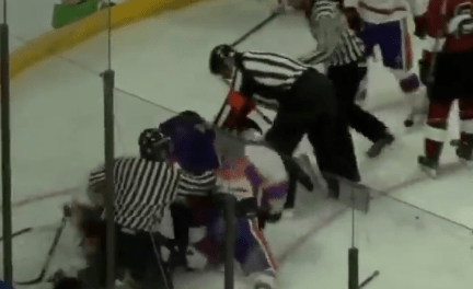 A Huge Brawl Broke Out at a Charity Hockey Game Between South Carolina and Clemson