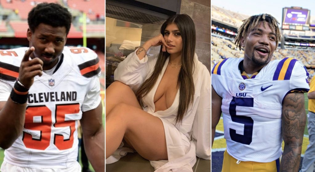 Myles Garrett Warns Redskins' Derrius Guice Of Mia Khalifa 'Trap'
