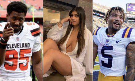 Myles Garrett Warns Redskins' Derrius Guice Of Mia Khalifa 'Trap'