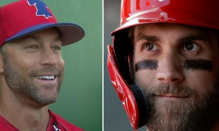 Bryce Harper Already Dropping Bod Compliments to His Skipper