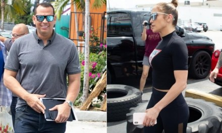 A-Rod and J-Lo hit The Gym in Style