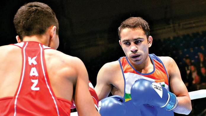 Indian boxers, Amit Panghal
