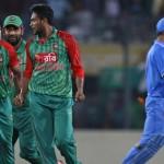 1st ODI: Dhoni & Mustafizur fined for collision.