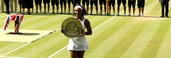 Serena William with his Sixth Wimbledon title