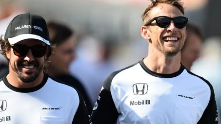 Fernando Alonso (L) and Jenson Button (R)