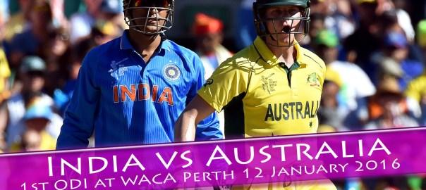 India vs. Australia 1st ODI