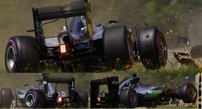 Nico Rosberg crashes in final practice of Austrian Grand Prix