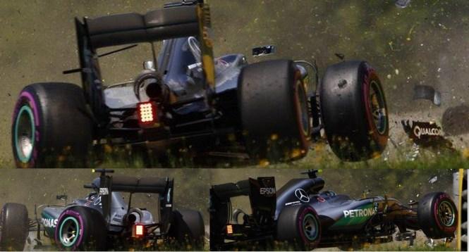 Nico Rosberg crashes in final practice of Austrian Grand Prix