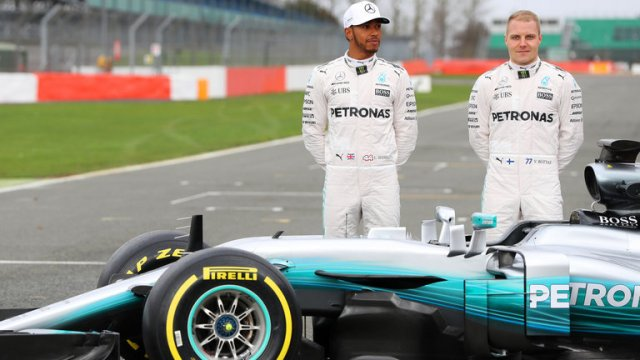 F1 champions Mercedes launches new W08 car