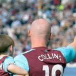 West Ham centre-back James Collins bid adieu to the game