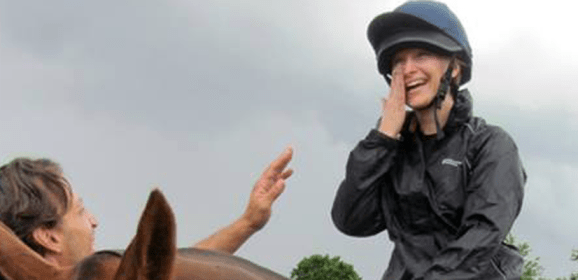 I have a go at polo… despite being afraid of horses