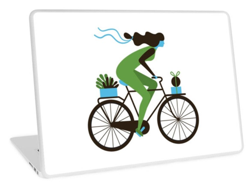 RedBubble-cycle-Delivery-Day-laptop-skin