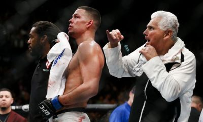 Nate Diaz and his boxing coach