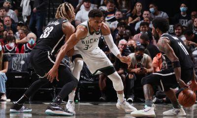 Bucks's Giannis guarding Kyrie