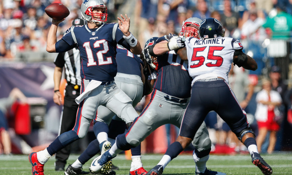 Brady in the midst of another drive for five — PATRIOTS NOTEBOOK