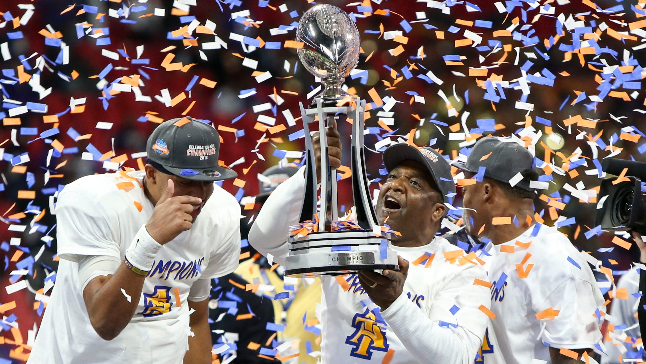 Carter, NCA&T rout Alcorn State 64-44 in Celebration Bowl