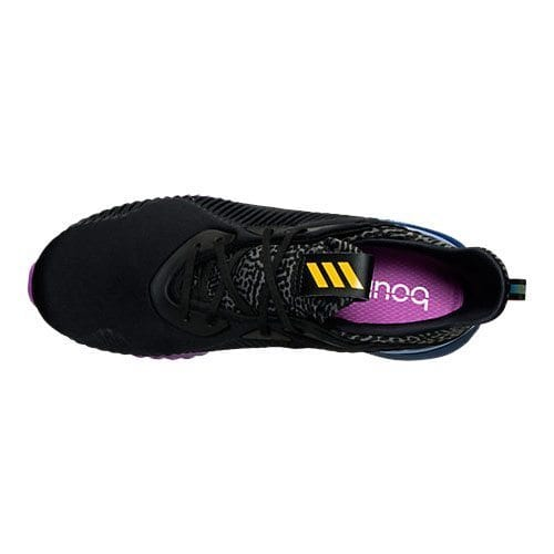 adidas alphabounce black gold purple 7