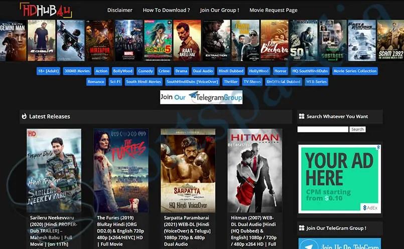 Hdhub4u - illegal Bollywood & Hollywood Download Website
