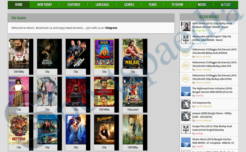 Movcr - Download Movies, Tv Shows & Musics Torrent Website