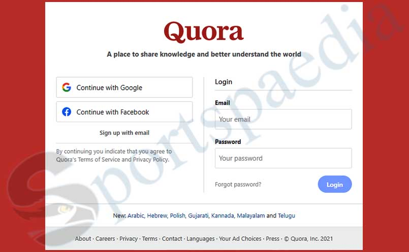 Quora Login - Access my Quora Account   Quora Account Login