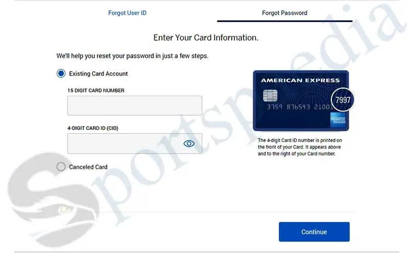 How to Reset my Amex Login Password?