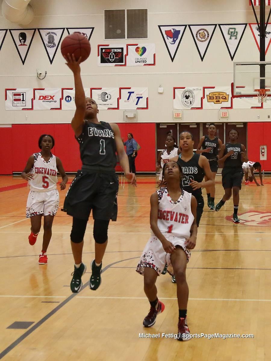 FHSAA Girls Basketball Edgewater 31 vs Evans 59  Sports