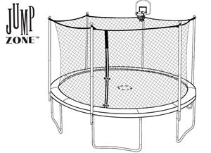 12ft DunkZone Trampoline and Enclosure Parts for Model