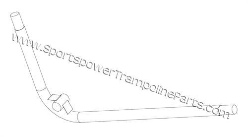 Right Corner Frame Top Rail for Bounce Pro Model TR-1008V-R