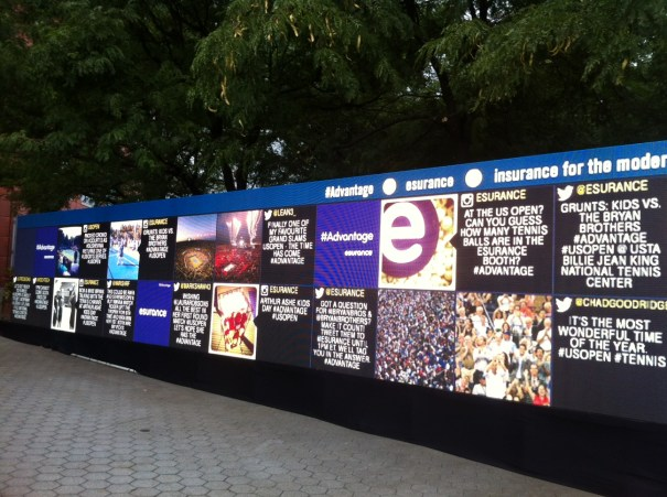 """The """"Social Wall"""" at the US Open."""