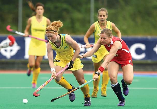 In June, the U.S. women's field hockey team battled Australia in a Hockey World League match in London. The sport is popular internationally, and new tournaments and events in the U.S. are helping grow the game. Photo Courtesy of Jan Kruger/Getty Images