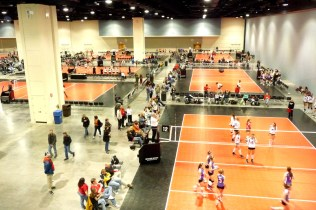 Raleigh Convention Center volleyball