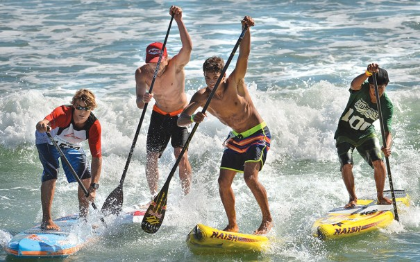 The Battle of the Paddle in Dana Point, California, is believed to be the largest organized stand-up paddleboard event in the country. The September 2013 event featured more than 1,200 participants. Photo courtesy of Steven Georges/The Orange County Register/Zumapress.com