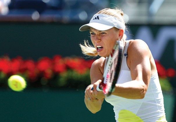 Caroline Wozniacki played in the finals of the 2013 BNP Paribas Open in Indian Wells, California. This  year's event runs March 3–16 and will showcase a stadium recently added to attract more spectators. Photo courtesy of Cal Sport Media via AP Images